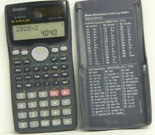 CASIO FX-991MS S-V.P.A.M. Calculator Tested/Works - New Bat. Installed Clean//