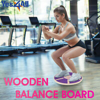 Balance Board Trainer Wooden Stability Tilt Training Core Pilate Yoga Fitness
