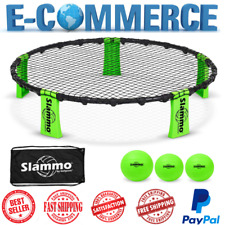Slammo Game Premium Set With 3 Balls & Carrying Case Portable, Outdoor, Yard Fun