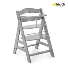 Hauck Alpha Highchair Junior Chair Grey with Rose Padded Seat Liner Pads