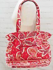 Vera Bradley LAURA Large Tote Bag Purse ROSY POSIES Pink Paisley - Free Shipping