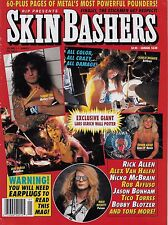 1990 issue of SKIN BASHERS magazine  Tommy Lee  Neil Peart  Lars Ulrich poster