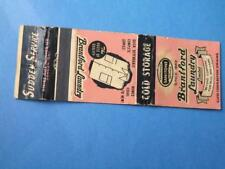 BRANTFORD LAUNDRY COLD STORAGE  VINTAGE MATCHBOOK ONTARIO ADVERTISING