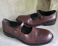 38e9308bc8c BARNEYS coop brown leather cap toe mary jane shoes sz 36 us 6   5.5