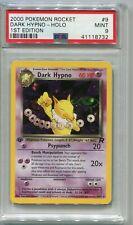 Pokemon Card 1st Edition Dark Hypno Holo Team Rocket Set 9/82, PSA 9 Mint