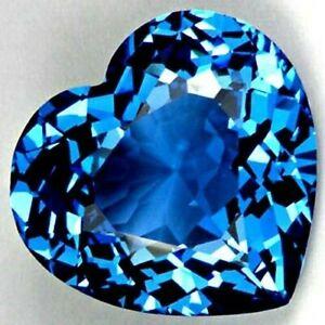 MASSIVE 25mm (66.95cts) HEART-FACET DEEP LONDON-BLUE NATURAL AFRICAN TOPAZ GEM