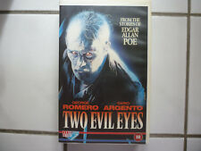 Two Evil Eyes (Horror Poe Dario Argento George A. Romero Rare GB VHS Video 1990)