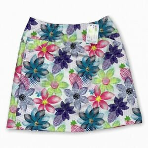 NWT Women's B SKINZ Golf Skort Floral Stretch Pull on Skirt XS Extra Small