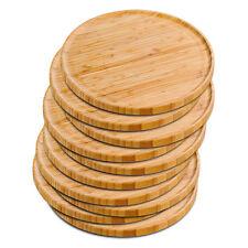 10er SET KESPER 58463 Pizzateller 32 cm aus FSC-zertifiziertem Bambus / Holztell