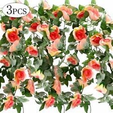 DIY 7.5FT String Fake Rose Flower Vine Ivy Leaf Garland Floral Party Xmas Decor