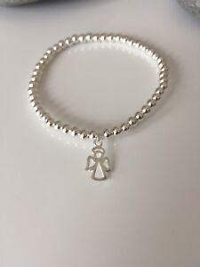 Sterling Silver Angel Bracelet. Fairy Bracelet. Angel Charm. Silver Angel.