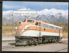 CONGO 1999 LOCOMOTIVES SHEET MNH