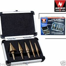 5pc COBALT STEP UNI DRILL BIT SET SAE NEIKO TOOLS