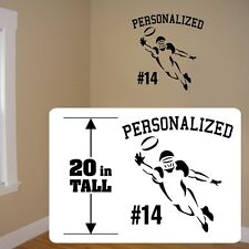 Football customized decal,  Football player wall Fat Head style decal sticker