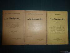 Paul Reboux Charles Muller À la manière de... 3 vols recueils de pastiches
