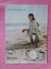 2013 Magazine Advertisement Page Featuring Bulova Watches Woman Beach Nice Ad