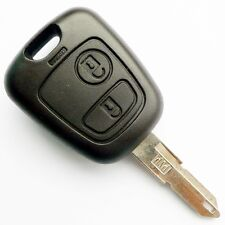 Key fob remote case shell for peugeot 206 106 with 2 buttons and blade (17)