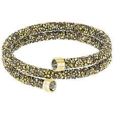 Swarovski 5348103 Crystaldust Double Gold Bangle Size M RRP $129