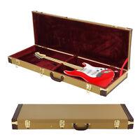 Gold Electric Guitar Case Protective Flight Guitar Hard Case Lockable Carry Bag