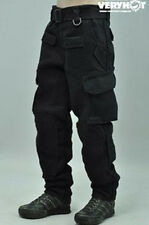 "1/6 Scale Men's Black combat Trousers Pant Clothes F 12"" Male Action Figure Body"