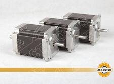 ACTMotor GmbH 3PCS Nema23 23HS8630B Schrittmotor 3A 76mm 1,35Nm DualShaft 6Leads