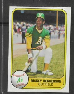 1981 FLEER #574 RICKEY HENDERSON NICE CARD