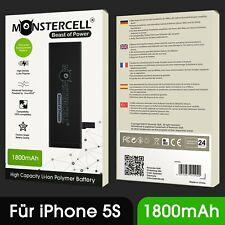 Monstercell® Original Akku für iPhone 5S Batterie EXTRA POWER 1800mAh Akku