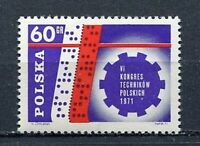 35821) Poland 1971 MNH Congress Of Polish Technicians 1v