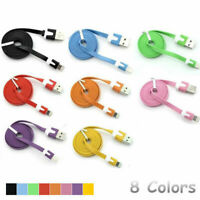 1M Colorful Flat Lightning charging Cable For iPhone 7/7Plus/6/6S/6Plus/6SPlus/5