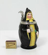 Antik Porzellan Bierkrug Skulptur Münchner Kindl Krug Zinn Lithopanie Bavaria
