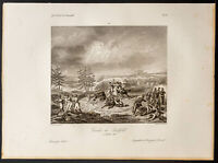 1841ca - Schlacht Von Saalfeld - Gravur Antik - Napoleon - Preussen