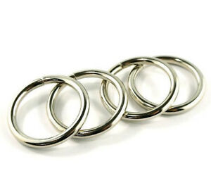 """1"""" 'O' RINGS by Emmaline bags - range of finishes - for bags & crafts"""