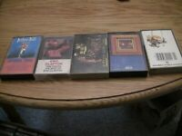 5 Cassette Greatest Hits Lot: Jethro Tull, Steppenwolf, Chicago, Cream, Clapton