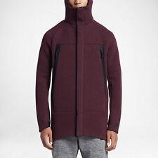 Men's Nike NSW Sportswear Tech Fleece Parka Jacket 805142 681 SIZE L Maroon