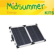 40W (2x20W) briefcase solar panel charging kit  - camper, motorhome, caravan, RV