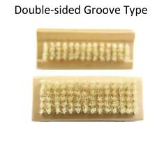 Cleaning Brush Both Sided Bristle Wooden Nail For Manicure Pedicure Scrubbing