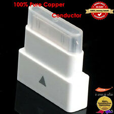 White Dock Extender Adapter Converter Pass Through Adapter for iPhone iPad iPod