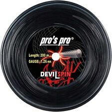 Pro's Pro Devil Spin Tennis String 200m Reel - 1.26mm Black