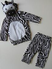 Old Navy Zebra Costume 12 18 24 M Two Piece Black White Dress Up