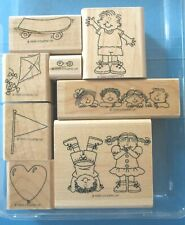 Flonz clear stamps kids series set 17 Holidays on the sun