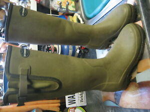 le chameau khaki green neoprene vierzonord wellington boots size uk 6