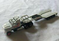 Vintage MAJORETTE # 610 NASA ROCKET TRACTOR TRAILER TRANSPORT HO Scale Diecast