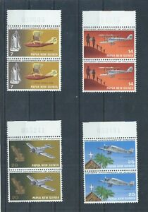 Papua New Guinea stamps. 1972 Aviation pairs MNH SG 220 - 223 (P213)