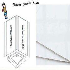 WHITE GLOSS  SHOWER WALL PANELS KITS 2X1M X 2400X 10MM THICK