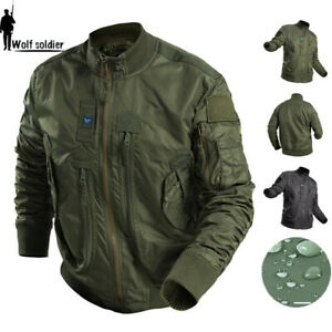 Air Force MA-1 Mens Bomber Jacket Military Flight Pilot Flying Army Coat Casual