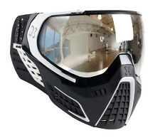 New HK Army KLR Thermal Paintball Goggles Mask - Carbon Black/White Chrome Lens