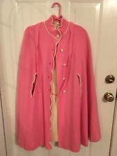 New listing Andiamo Jr Division Of Gino Paoli Size 9/10 Pink Cape Belt And White Pink Dress