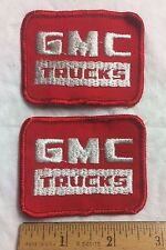 Lot of 2 GMC Trucks General Motor Truck Red White Logo Car Patches patch lot