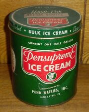Vintage Paperboard Tin Pensupreme Ice Cream Container Penn Dairies Lancaster PA