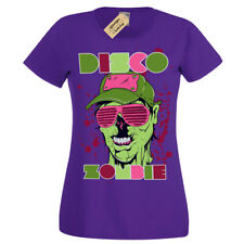 Disco zombie T-Shirt Party Rave T-Shirt Womens Ladies Scoop